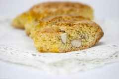 Cantucci on the white table Stock Images