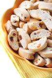 Cantuccini с арахисами, высушенными абрикосами и изюминками Стоковые Фотографии RF