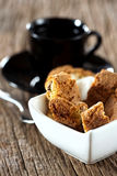 Cantuccini biscuits in bowl Stock Images