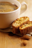 Cantuccini and coffee Stock Photography
