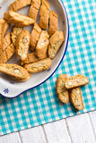 Cantuccini cookies on kitchen table Stock Image