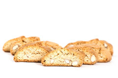 Cantuccini italian biscotti biscuits Isolated object on white Royalty Free Stock Photo