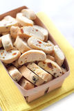 Cantuccini with peanuts, dried apricots and raisins Stock Photos