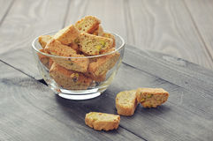 Cantuccini with pistachios Stock Photography
