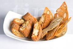 Cantuccini quebradizo italiano de las galletas de almendra Foto de archivo libre de regalías