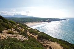 Canuelo beach next to Zahara de los Atunes Royalty Free Stock Images