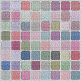 Canvas. Alive with texture, square mosaic, color palette Stock Images