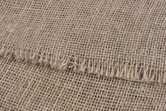 Canvas. Close-up of rough brown burlap canvas Royalty Free Stock Image
