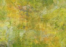 Canvas Abstract Painting Yellow Green Brown Dark Grunge Dark Rusty Distorted Decay Old Texture for Autumn Background Wallpaper