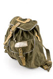 Canvas backpack Royalty Free Stock Images