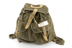 Canvas backpack Royalty Free Stock Photography