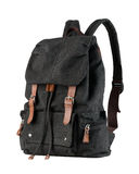 Canvas backpack Stock Photos