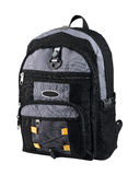 Canvas backpack Stock Photo