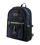 A canvas backpack with compass Stock Photo