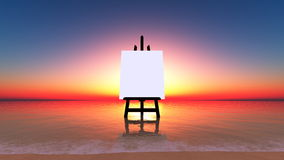 The canvas of the beach Stock Image