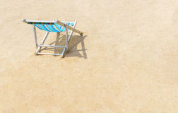 Canvas beach bed on the beach. With nice sand Stock Photography