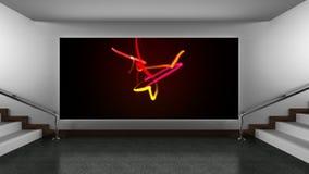 Canvas bij kunstgalerie stock footage