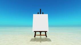 Canvas bij strand royalty-vrije illustratie