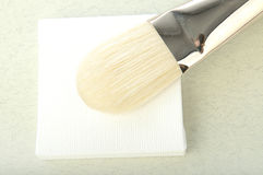 Canvas and brush Royalty Free Stock Image