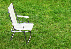 Canvas chair Royalty Free Stock Photography