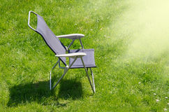 Canvas chair with shadow Royalty Free Stock Photo