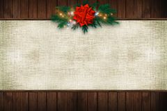 Canvas Christmas Background Royalty Free Stock Photos