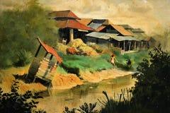 Canvas of Dairy Farm at Potong Pasir by Chua Mia Tee Royalty Free Stock Image