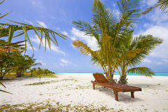 canvas or deck chair Stock Photography