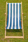 Canvas deckchair Royalty Free Stock Photos