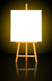Canvas on Easel Stock Images