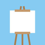 Canvas Easel Empty Stock Photography