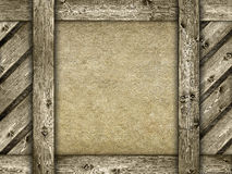 Canvas en houten achtergrond Royalty-vrije Stock Fotografie