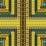 Canvas with ethnic motifs Stock Images