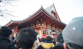 Canvas event at Senjoji temple in japan Royalty Free Stock Photos