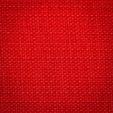 Canvas fabric texture. Rustic canvas fabric texture in red color. Square shape Royalty Free Stock Image