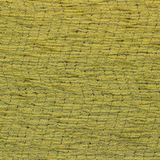 Canvas fabric texture. Rustic canvas fabric texture in yellow color and wave pattern. Square shape Stock Image