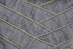 Canvas fabric with zipper and stitching Stock Images