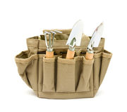Canvas gardener's toolbag Royalty Free Stock Images