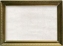 Canvas and Golden Frame Royalty Free Stock Photo