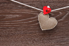 Canvas handmade heart Royalty Free Stock Images