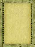 Canvas or handmade paper, planks and bamboo sticks Stock Photography