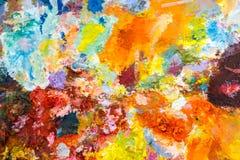 Canvas het schilderen textuur Stock Foto's