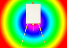 Canvas lay on the tripod paint. Royalty Free Stock Images