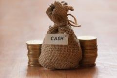 Canvas money sack Royalty Free Stock Photos