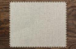 Canvas napkin cloth table wooden zigzag. Patttern royalty free stock photo