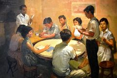 Canvas of National Language Class by Chua Mia Tee Stock Images