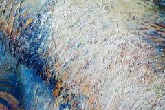 Canvas, olie Schilderen geschilderd door de kunstenaar Fragments van pi royalty-vrije stock afbeelding