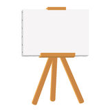 Canvas painting on easel Stock Images