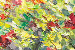 Canvas with paints Royalty Free Stock Photo