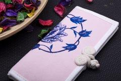 Canvas purse Stock Images
